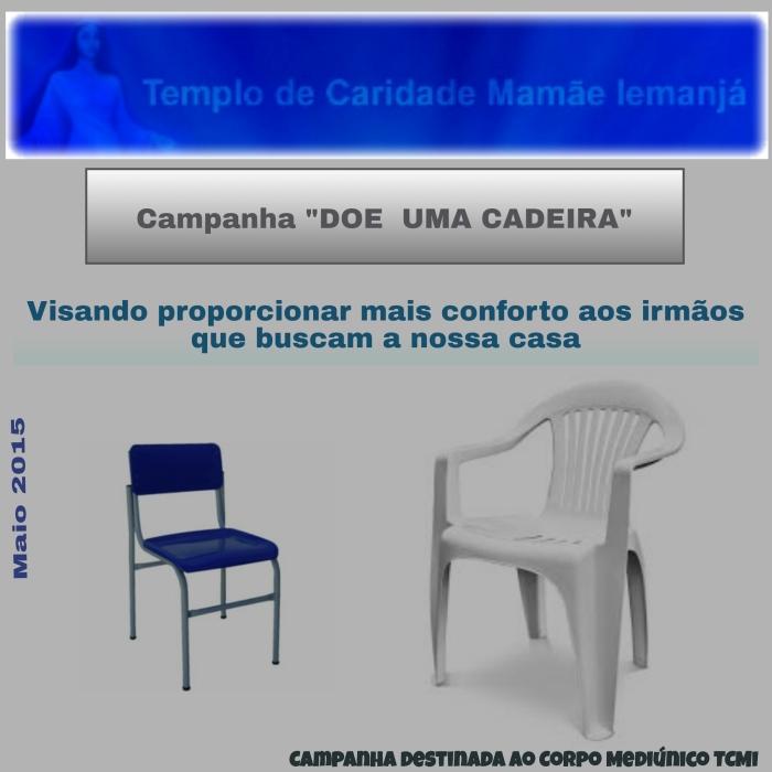 Campanha doe uma cadeira.
